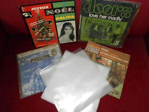 300-POCHETTES-plastiques-DISQUES-VINYLES-45-TOURS