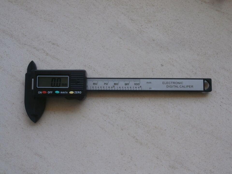 Skydelære, 100 mm - polymer - ubrugt