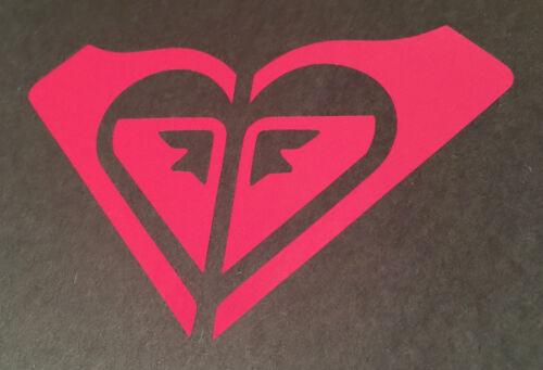 "Roxy Quiksilver Surfing Logo ~ vinyl window laptop decal bumper sticker Pink 8/"""