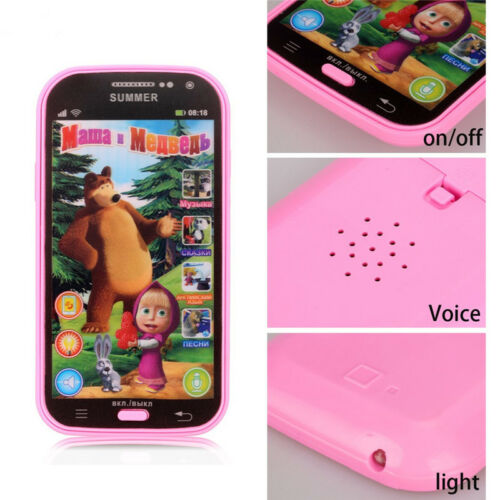 Educational Babys Phone Toys Electronic Learning Russians Language Phone Toy WR