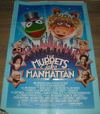 MUPPETS TAKE MANHATTAN 1984 SOUVENIR MAGAZINE  JIM HENSON MISS PIGGY KERMIT