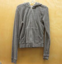 JUICY COUTURE Gray Velour Hoodie - Sz Small