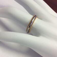 TIFFANY & CO. 18K YELLOW GOLD PLATINUM 750 PT950 MILIGRAIN RING BAND SIZE 6