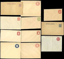ARGENTINA POSTAL STATIONERY ENVELOPES + WRAPPERS...11 ITEMS...MINT