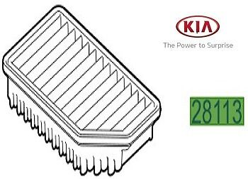 Genuine Kia Ceed 2012-2017 Air Filter Replacement Element 28113A5800