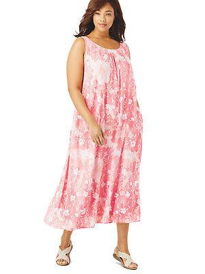 M L XL 2XL 3XL 4XL 5XL 6XL Crinkle Kleid Sommerkleid Maxikleid Women Within  GR