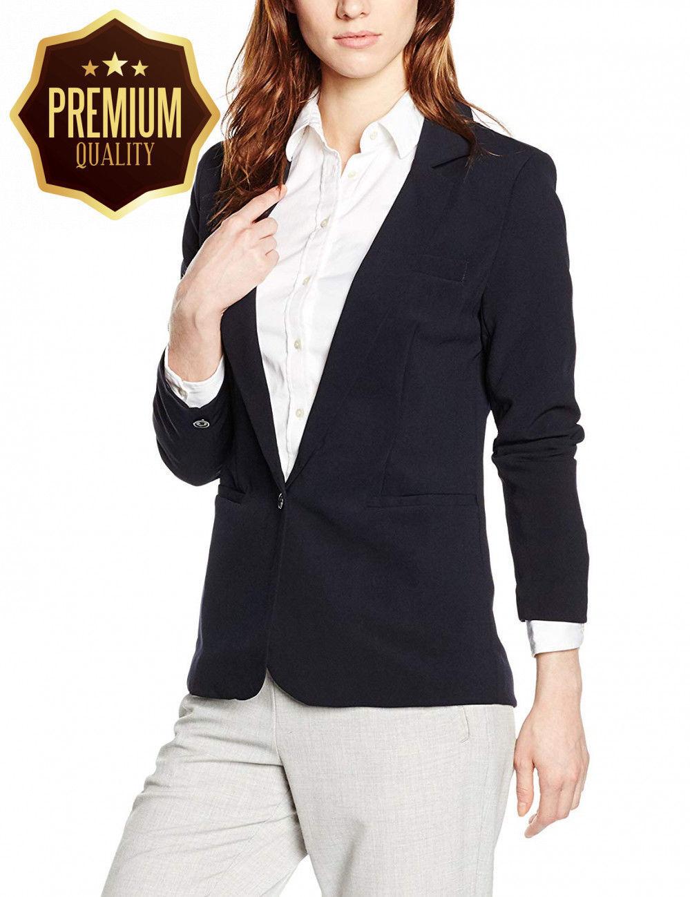 Unique 21 Womens Angie Plain Tailored Blazer Size 8 BNWT RRP .99 Dark Navy