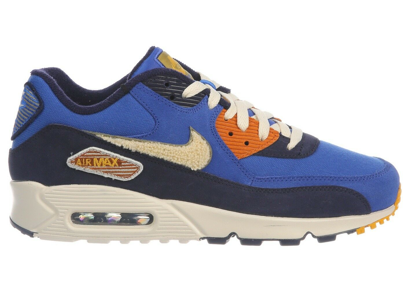 Nike Air Max 90 Premium SE Mens 858954-400 Royal Cream Running Shoes Size 7.5