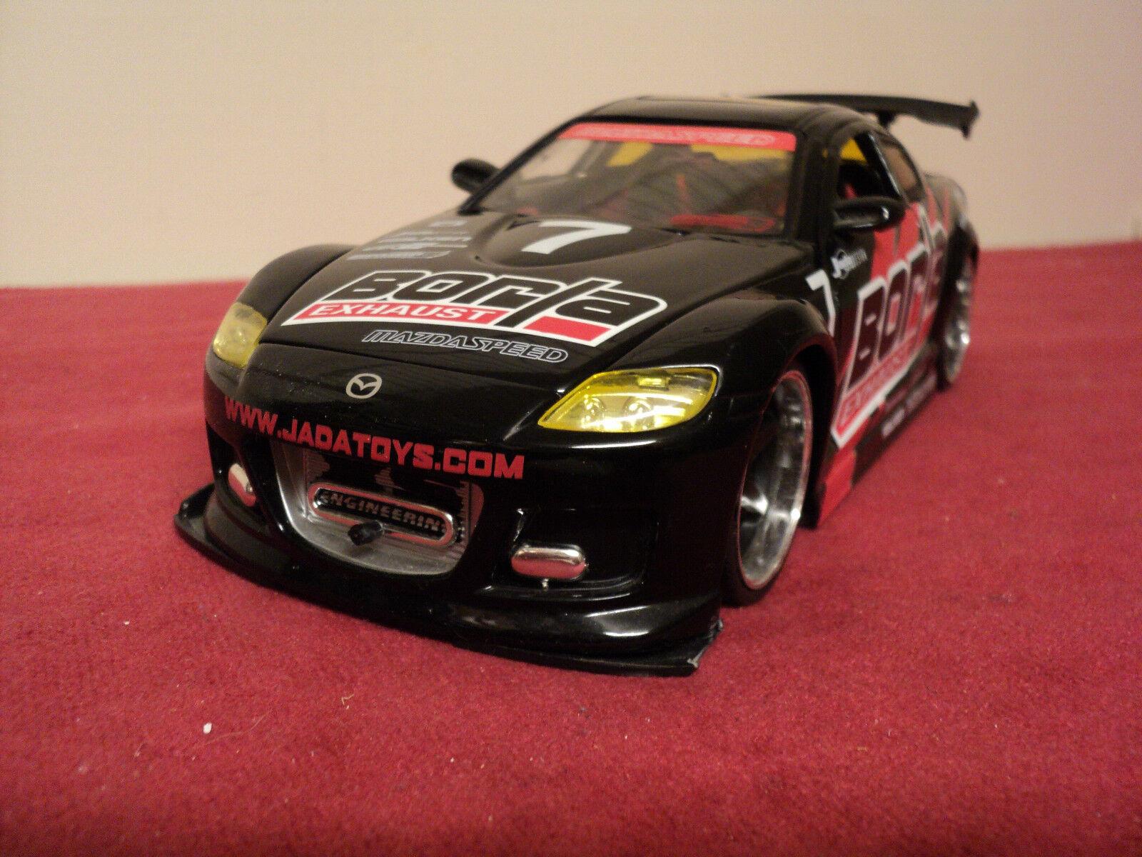Jada    Mazda RX8  1 24 scale  Import Racer NO LONGER MADE   Rare BORLA GRAPHICS