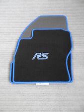$$$ Fußmatten passend für Ford Focus DA3 + RS LOGO + Rand blau + NEU $$$