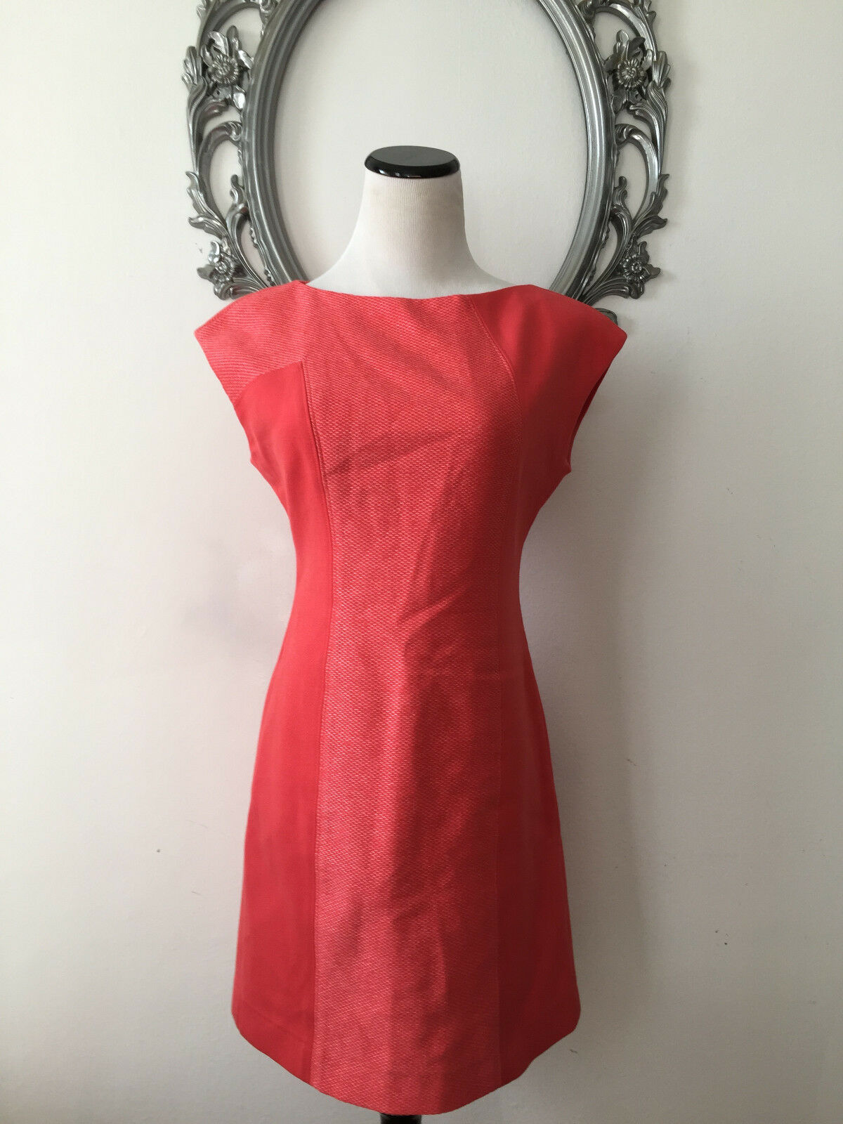 WORTH  Sleeveless Mini Dress Coral Farbe Cotton Blend New Größe 2 XS