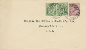 SOUTH-AFRICA-1925-George-V-1-2d-pair-2d-superb-cover-CDS-034-WORCESTER-034-to-USA