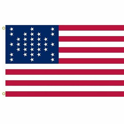 33 Star US Flag 3x5 ft United States USA American 1859-1861 pre Civil War