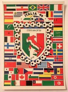 Cartolina-Italia-90-C-039-Ero-Anch-039-Io-Stemma-Italia-Stivale-Bandiere