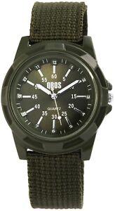 Qbos-Herrenuhr-Gruen-Analog-Metall-Textil-Quarz-Armbanduhr-X2900078001