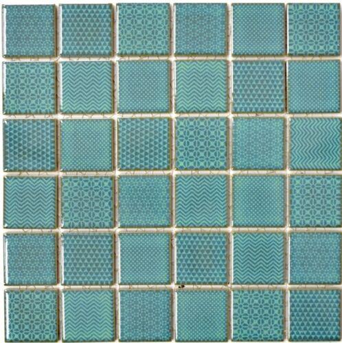 Mosaik Fliese Keramik grün Celadon Heritage Emerald WC Fliesenspiegel 16-0602/_b