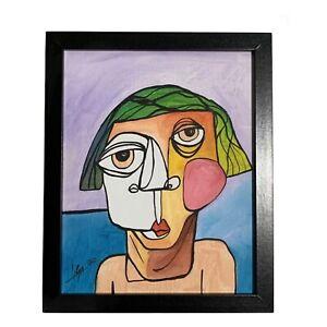 PAINTING-ORIGINAL-ACRYLIC-ON-CANVAS-FRAME-INCLUDED-CUBAN-ART-8-X10-By-LISA