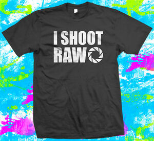 I-Shoot-Raw-Photography-T-Shirt-4-colour-options-Small-to-3XL-Free-Post