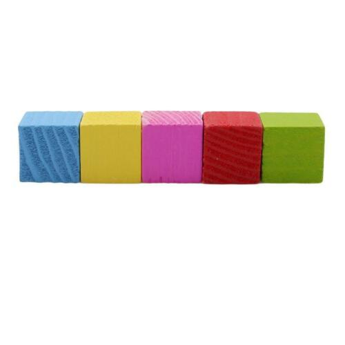 Colorful Baby Kids Children Square Block Wooden Cube Educational Toy T