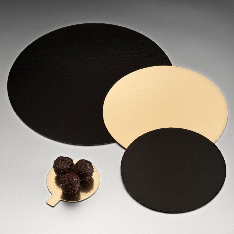 AZ boutique  Carton à patisserie   Carton rond or et noir  pour patisserie - 32c