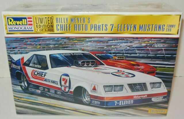Revell Billy Meyer S Chief Auto Parts 7 Eleven Mustang Funny Car 1 24 For Sale Online Ebay