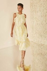 ULLA-JOHNSON-Wilda-Dress-Daffodil-Yellow-Size-10-SP180158