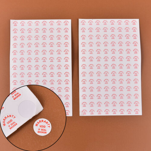 2 sheets//208pcs Warranty Void if damaged Protection Security Label Sticker sealpd