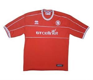 Middlesbrough 2001-02 Camisa Autêntica camisa Em Casa (excelente) Camisa De Futebol Xl