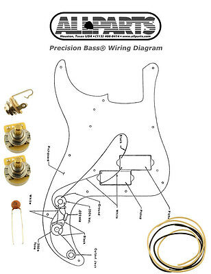 NEW Precision Bass Pots Wire & Wiring Kit for Fender P Bass Diagram  EP-4139-000 | eBay | Bass Wire Diagram |  | eBay