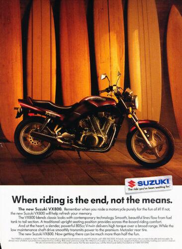 Curtain 1989 Suzuki VX800 Motorcycle Classic Vintage Advertisement Ad D113