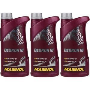 3x1-Liter-Original-MANNOL-Getriebeoel-Dexron-VI-Gear-Oil-Automatikgetriebeoel