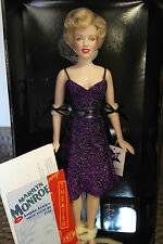 "Franklin Mint Marilyn Doll Entertaining The Troops Vinyl 16"" RARE Purple USO"