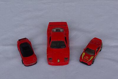 Professioneller Verkauf 3 Alte Rote Metallautos 2 Ferrari Testa Rossa 1 Toyota Hot Wheels
