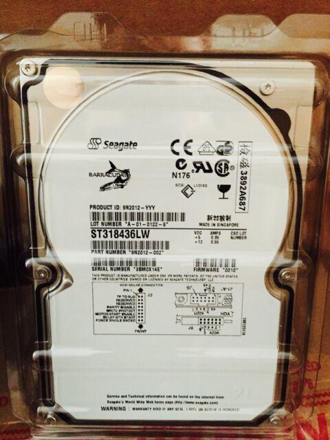 """*New* Seagate Barracuda (ST318436LW) 18GB, 7200RPM, 3.5"""" Internal Hard Drive"""
