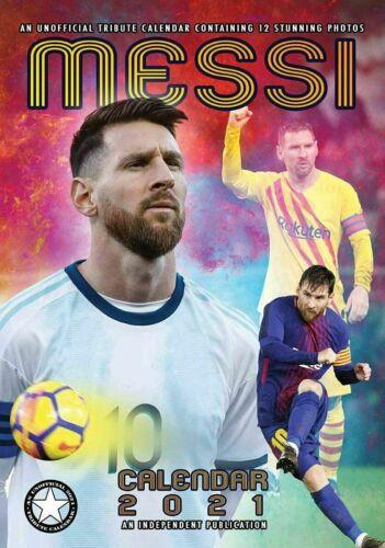 Groß A3 Plakat Größe Fußball Lionel Messi 2021 Wandkalender
