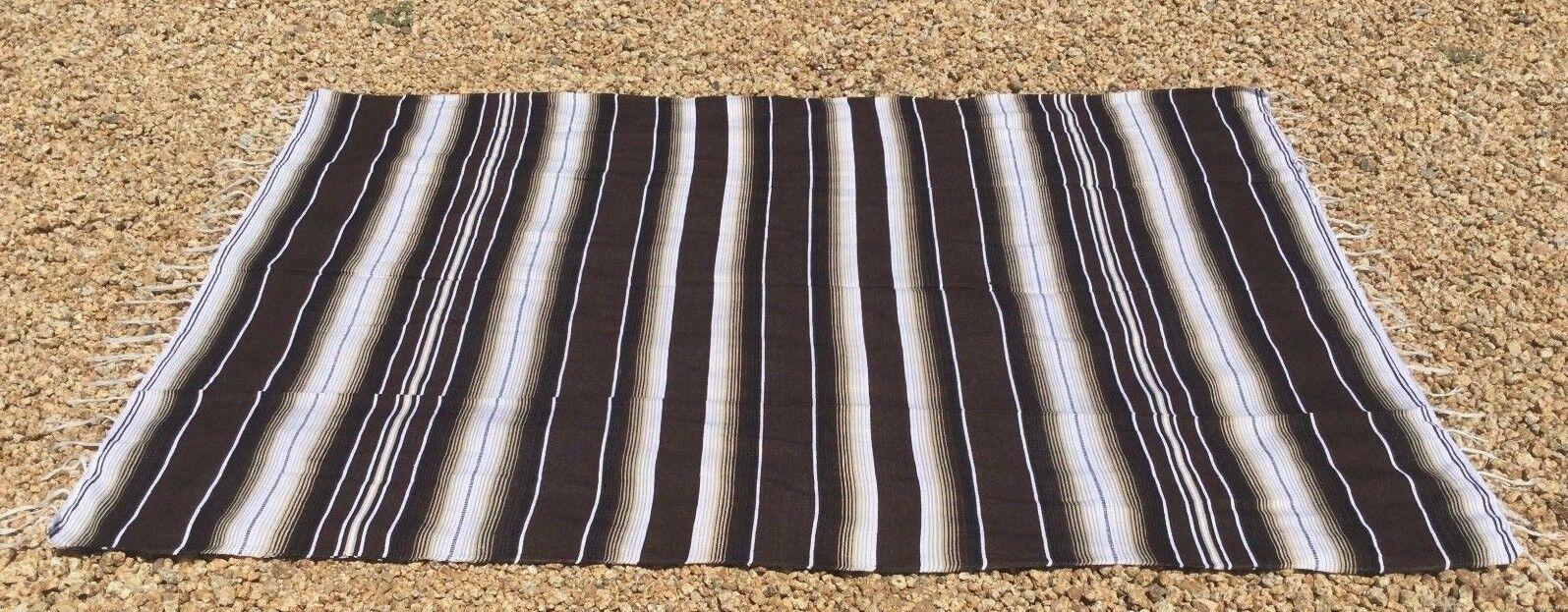 Mexican Blanket Sarape Multi-Color Brown #2