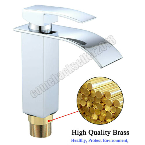 Wasserhahn Waschbecken Einhebelmischer Waschtischarmatur Wasserfall WC Armatur