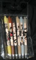 Disney Parks Mickey Steamboat Willie 6 Pack Pen Set Black Ink Rubber Grip -