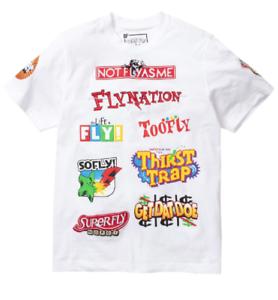 Men-039-s-Born-Fly-White-034-Trouble-034-Short-Sleeve-T-Shirt