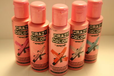 Crazy Color Semi Permanent Hair Dye 100ml.  (30 Colours available) By Renbow