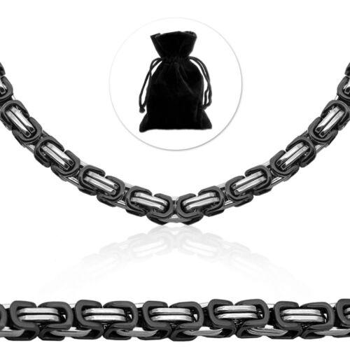 Cadena de acero rey cadena Biker tanques cadena collar caballero negro plateado Ø 12mm
