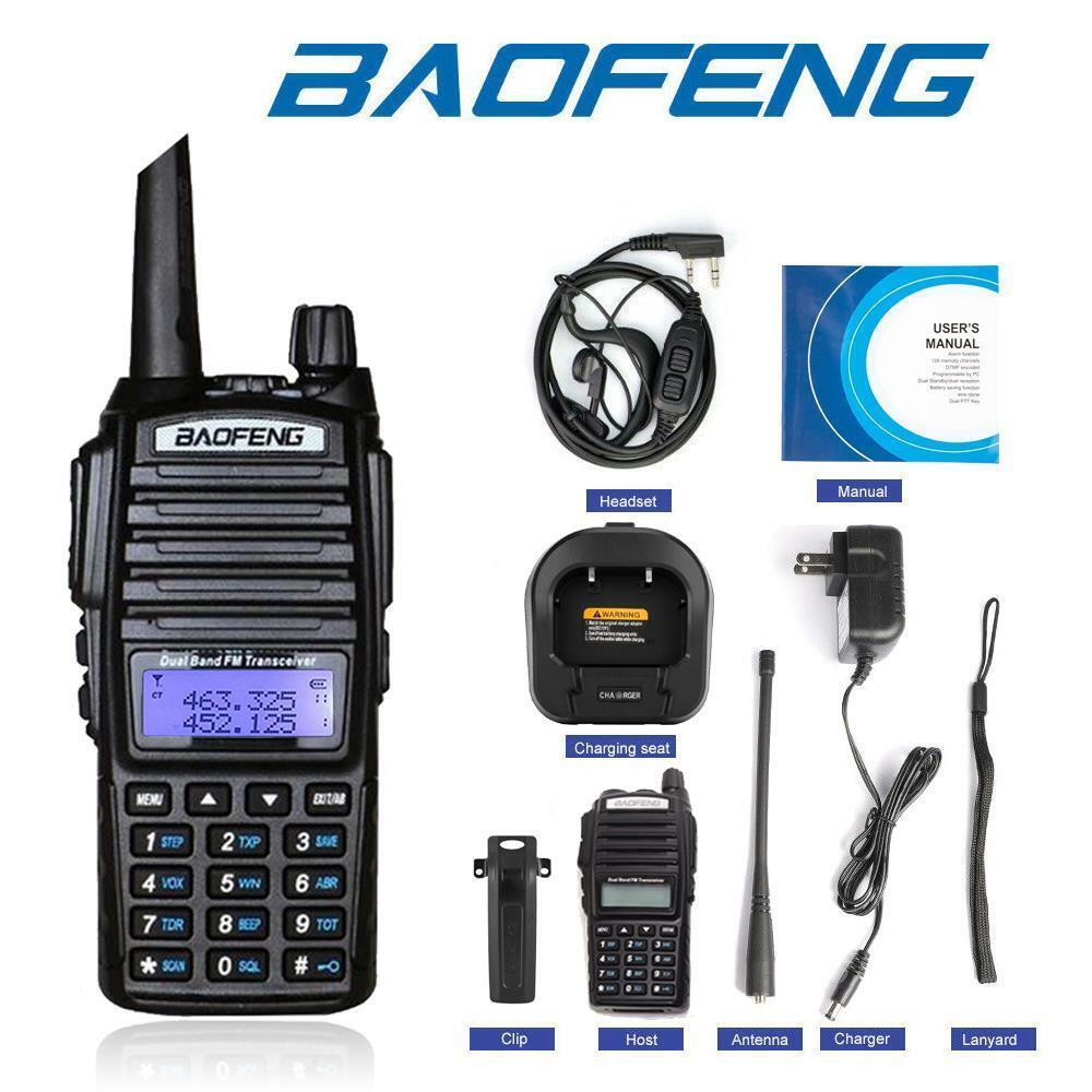 gadgettown Baofeng UV-82 Two Way Radio UHF VHF Dual-Band Walkie Talkie Ham Transceiver