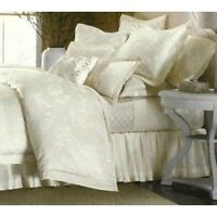 martha stewart collection matin queen bedskirt ivory floral Home Furnishings