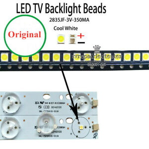 100pcs-lot-2835-3528-3-V-350-mA-Cool-Lumiere-Blanche-Reparation-TV-DEL-LCD-retroeclairage-Bande
