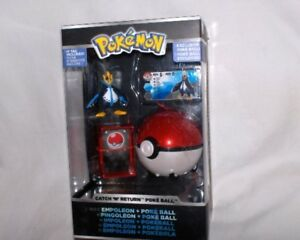 Neu,ovp,lizenz Mangelware Pokemon-pokeball Mit Pokemon figur Impoleon Catch`n Return
