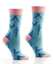 Yo Sox Women's Crew Socks, Zen Yoga Design