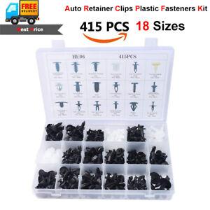 415pcs Car Body Plastic Push Pin Rivet Fasteners Trim Clip Assortment Kit
