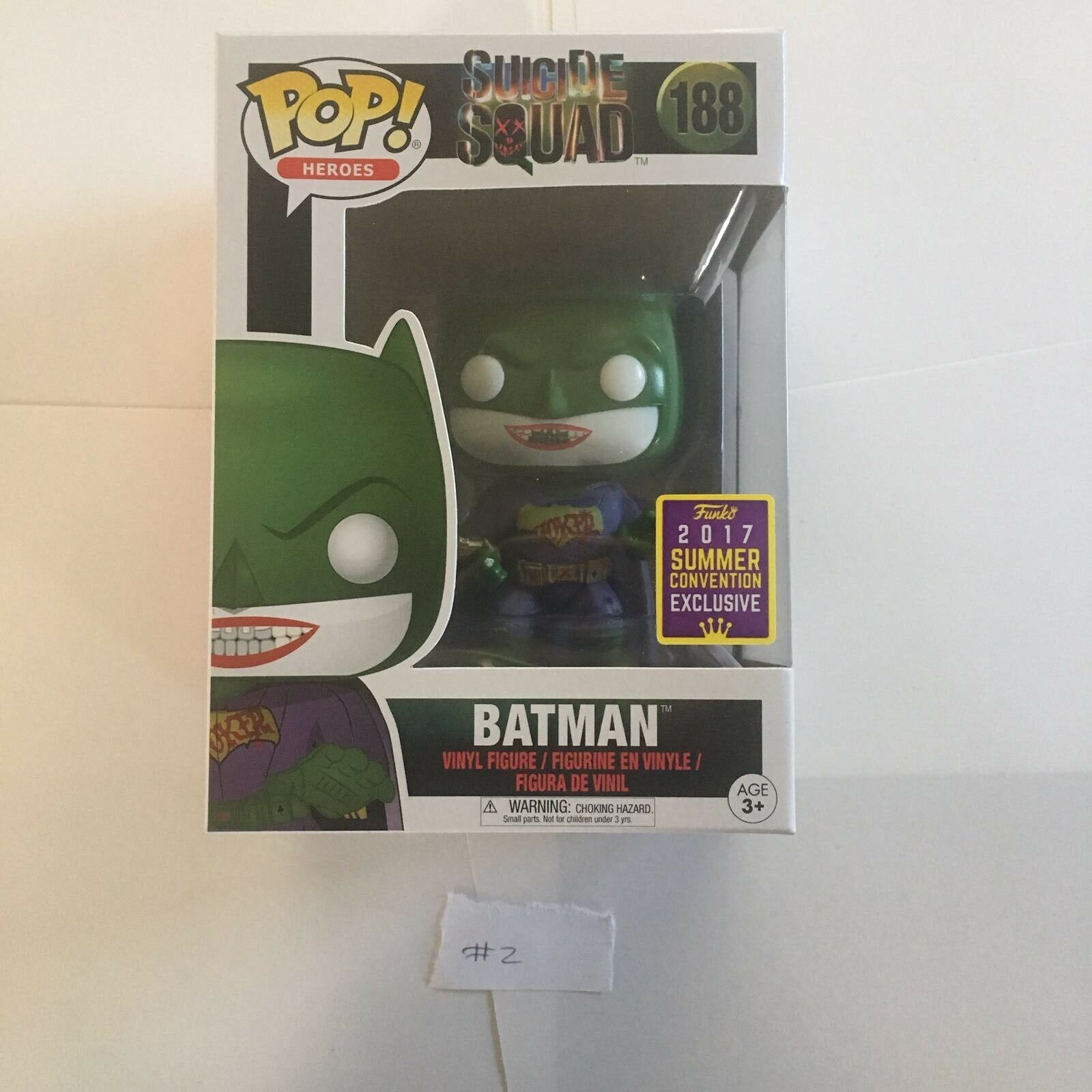 FUNKO POP BATMAN SDCC 2017 SUMMER EXCLUSIVE JOKER SUIT SUICIDE SQUAD RARE