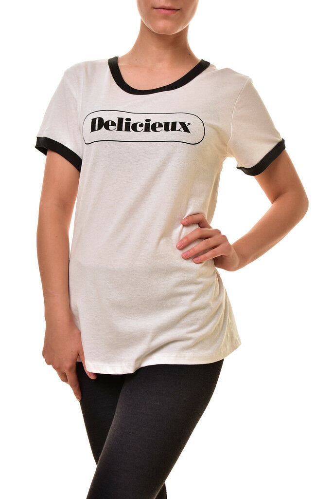 Sundry donna SUONERIA delicieux cotone Casual T-SHIRT bianca bianca bianca S Rrp  107 BCF810 47ee9d