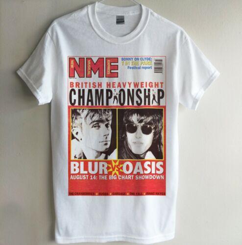 NME CLASSIC COVER BLUR VS OASIS T-SHIRT INDIE 90S BRITPOP RETRO